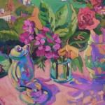 Palm & Flowers- Consuelo Mencheta