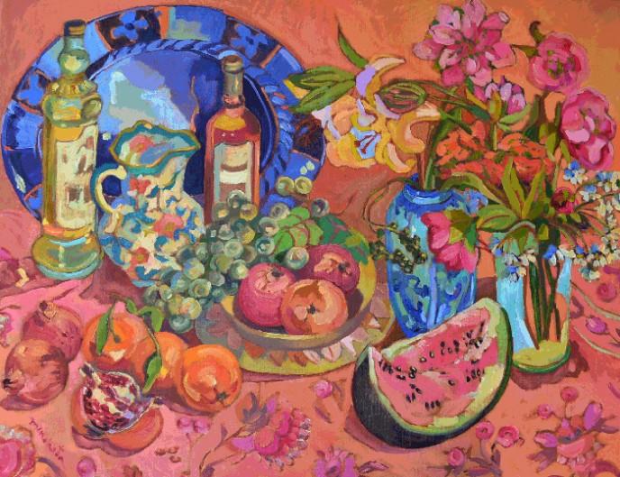 Pomegranates & melons- Consuelo Mencheta